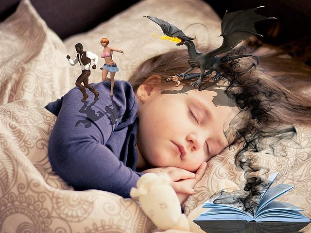 dětský fantazie ve snech