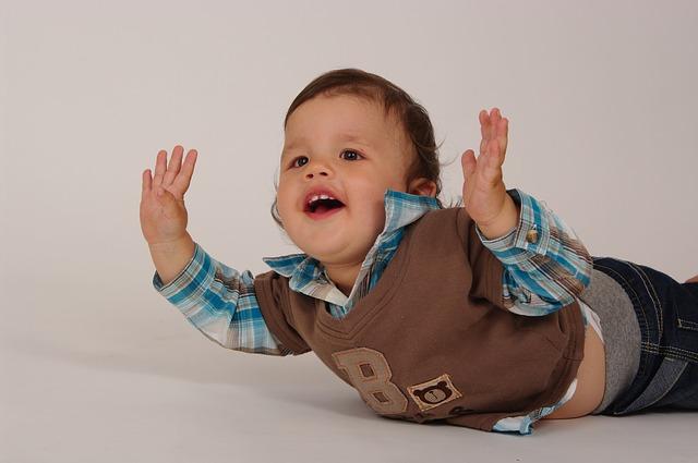 radost malého dítěte
