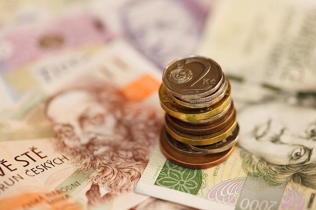 české koruny a bankovky