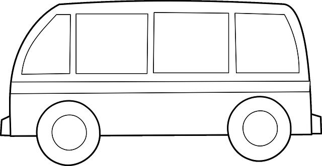 transportní dodávka (kresba)